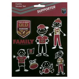 State of Origin QLD Queensland Maroons FAMILY Sticker Sheet