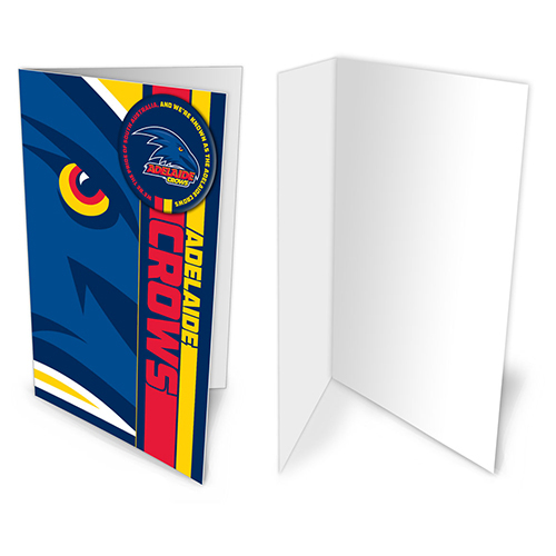 Adelaide Crows AFL Gift Card & Team BADGE Birthday Christmas Fathers Mothers Day