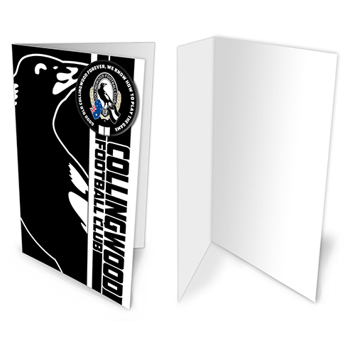 Collingwood Magpies AFL Gift Card & Team BADGE Birthday Christmas Fathers Mothers Day