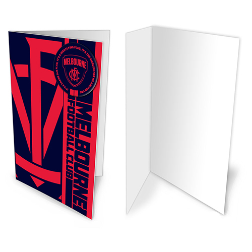 Melbourne Demons AFL Gift Card & Team BADGE Birthday Christmas Fathers Mothers Day