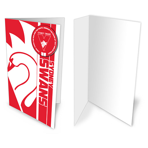 Sydney Swans AFL Gift Card & Team BADGE Birthday Christmas Fathers Mothers Day