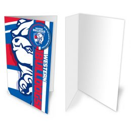 Western Bulldogs AFL Gift Card & Team BADGE Birthday Christmas Fathers Mothers Day