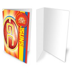 Gold Coast Suns AFL Gift Card & Team BADGE Birthday Christmas Fathers Mothers Day