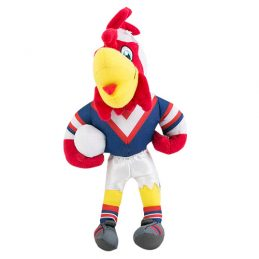 Sydney Roosters NRL Plush MASCOT Teddy Bear Sublimated Embroidered
