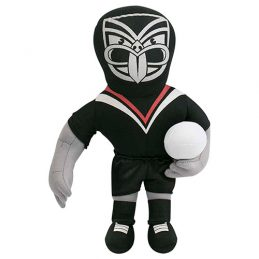 New Zealand NZ Warriors NRL Plush MASCOT Teddy Bear Sublimated Embroidered