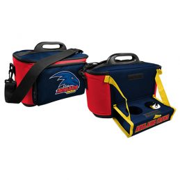 Adelaide Crows AFL Lunch Cooler Bag With Drink Tray Table