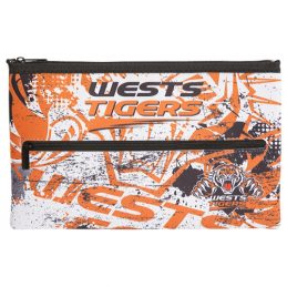 NRL Wests Tigers QUALITY LARGE Pencil Case for School Work Stationary