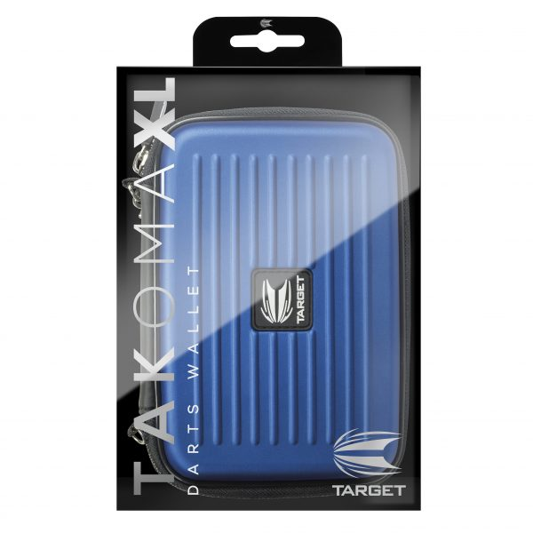 BLUE TARGET Takoma Wallet XL Holds 2 Sets Assembled Darts 2 Zip Pouches Gift