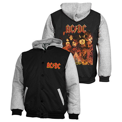 ACDC Jacket Jumper Coat Hoodie Embroidered Quilted lined