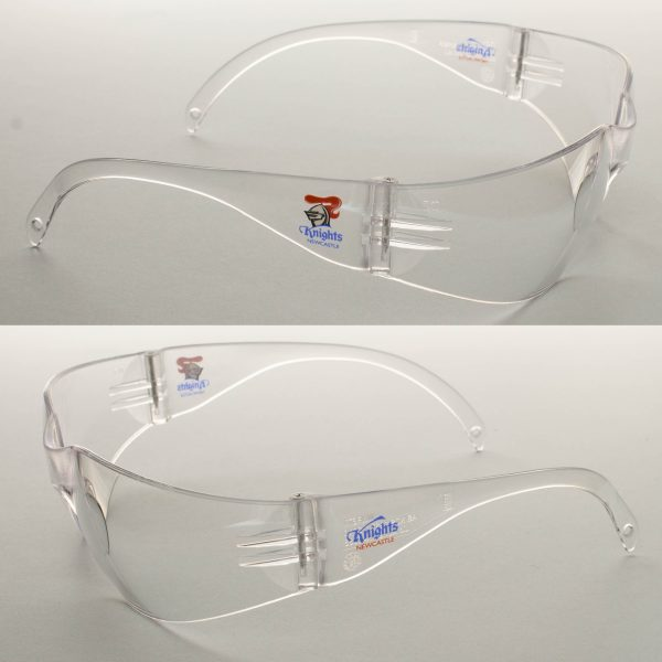 2 x Newcastle Knights NRL Safety Eyewear Glasses Work Protect CLEAR