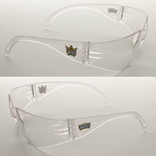 2 x Gold Coast Titans NRL Safety Eyewear Glasses Work Protect CLEAR