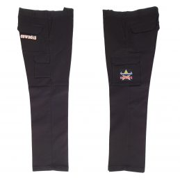 North QLD Queensland Cowboys NRL Long Cargo Work Pants: BLACK Workwear Safety Gift Tradies