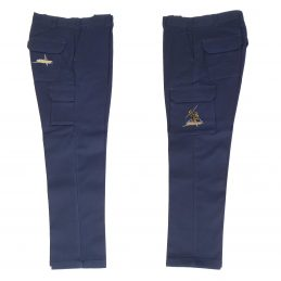 Melbourne Storm NRL Long Cargo Work Pants: NAVY Workwear Safety Gift Tradies