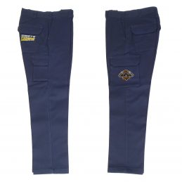 Wests Tigers NRL Long Cargo Work Pants: NAVY Workwear Safety Gift Tradies